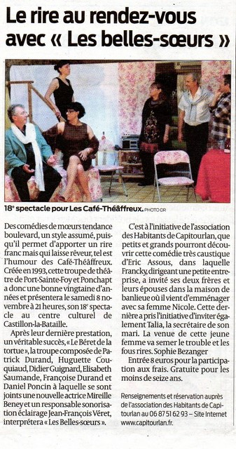 Sud Ouest 4 nov 2014
